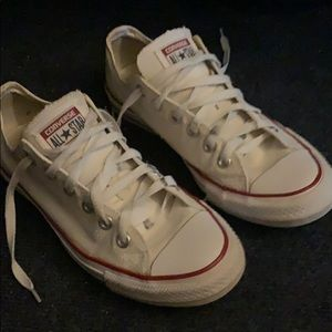 All white converse lows